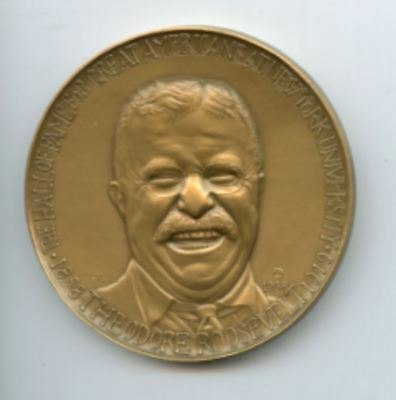 President THeodore Roosevelt Bronze Medal by Medallic Arts 1968  The Hall of Fam