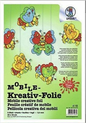 Mobile Kreativ Folie Window Color Mobile Ursus - 5 Blatt - 23cm x 33cm / 0,4mm