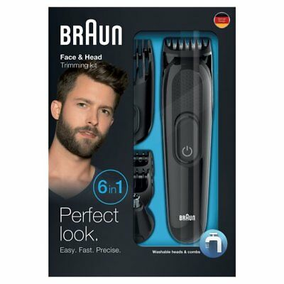 Braun Mgk3020 6 In 1 Face & Head Trimming Kit Brand New & Boxed *