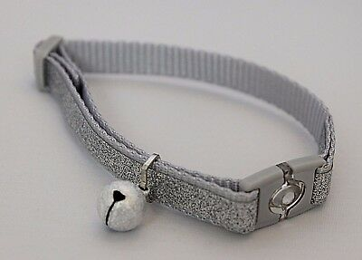 Cat Glitter Sparkly Collar Kitten Adjustable Safety Buckle Loud Cat Bell