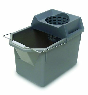 Rubbermaid Commercial Pail and Mop Strainer Combo, 15 Quart, Gray, FG619400STL