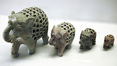 Series Statues Sculpture Stone Saponara Elephants