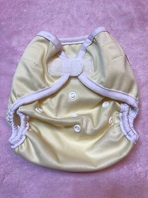 New Kawaii Happy Leak Free OS Diaper Cover Snap - Yellow