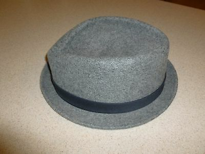 996984c788596 Vans Off The Wall Modernist Vintage Style Fitted Fedora Hat Wool Gray sz  L/XL