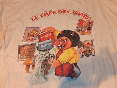 Vintage Original 80s RARE France Les Crados Garbage Pail Kids T-Shirt