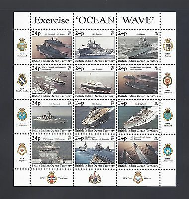 BRITISH INDIAN OCEAN TERRITORY 1997 SG 202/13 MNH Cat £22