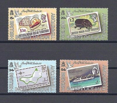 BRITISH INDIAN OCEAN TERRITORY 1990 SG 102/5 MNH Cat £25