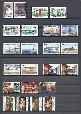 BRITISH INDIAN OCEAN TERRITORY 1990-92 6 SETS MNH Cat £56.50