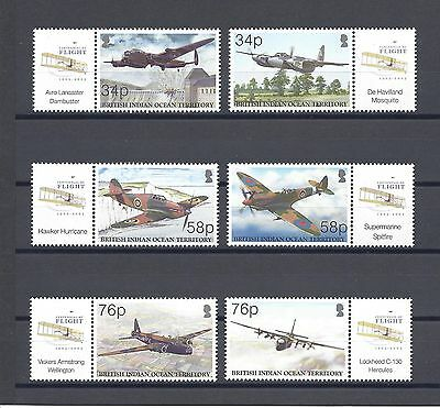 BRITISH INDIAN OCEAN TERRITORY 2003 SG 288/93, MS294 MNH Cat £25