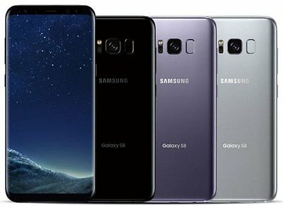 Samsung Galaxy S8 64GB (Verizon / Straight Talk / Unlocked ATT GSM) Black Silver