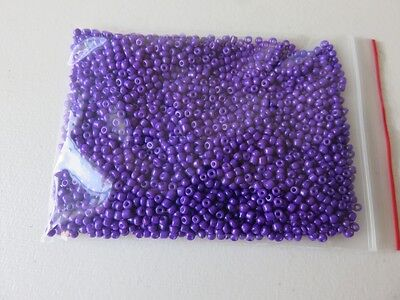 3mm Opaque glass seed beads - Purple - aprox 1,400 pcs (50g) FREE POSTAGE