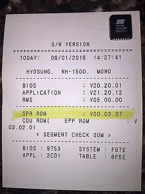 Nautilus Hyosung Minibank 1500SE ATM Printer EPROM Upgraded IC Chip V00.03.07