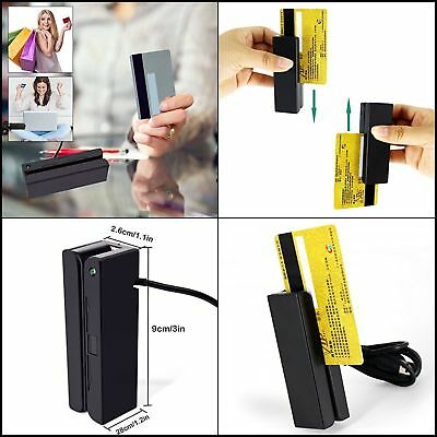 NEW USB Mini Credit Card 3 Track POS Magnetic Stripe Card Reader Swiper Writer