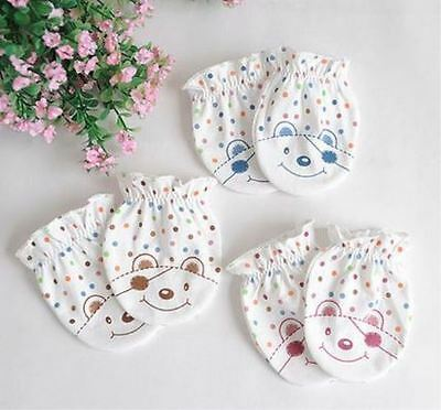 New Baby Newborn Anti Scratch Mitts Mittens Gloves 1 Pair 100% Cotton Supersoft