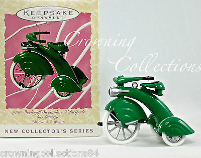 1997 Hallmark 1935 Steelcraft Streamline Velocipede by Murray Ornament Tricycle