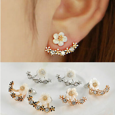 Women Lady Elegant Crystal Rhinestone Ear Stud Earrings Fashion Jewelry 1Pair