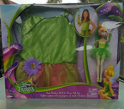 Disney Fairies Tinkerbell Fashion Doll & Dress Gift Set PLUS 2 Tinkerbell Cups