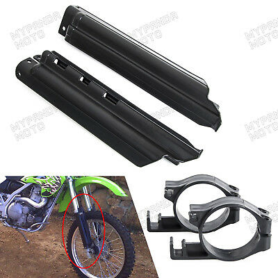 Front Fork Guards for Kawasaki KLX250R KDX300R KLX650 Clips Slider Protectors