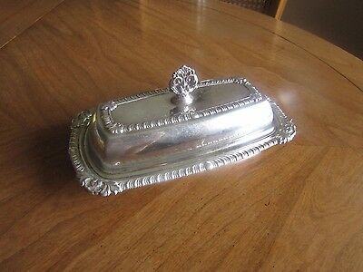 Silver Plate Vintage Butter dish