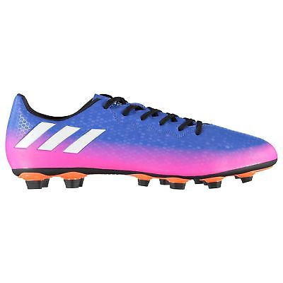 adidas Messi 16.4 FG Firm Ground Football Boots Mens Blu/Wht/Or Soccer Shoes