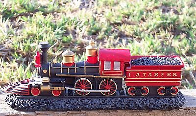 Train American 4-4-0 With Base Sku#f592 At&sfrr New With Base 16Cm