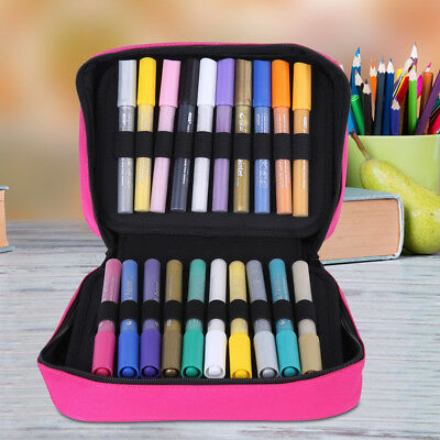 40 Slots Marker Pen Storage Case Carrying Bag Holder Organized For Art Supply IS