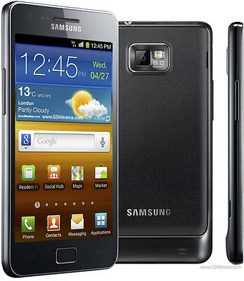 Original Samsung Galaxy S II GT-I9100 16GB Black (Unlocked) Android Smartphone