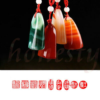 Agate Jade Stone Chinese Traditional Art Carving Seal Sculpture Name DIY Stone