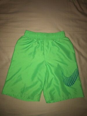 Nike Boy's Green and Blue Swimtrunks, Size Medium