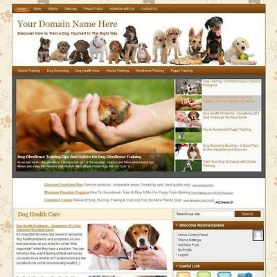 Online Dog Training Business Website For Sale! Earn Money At Home! Free Hosting!