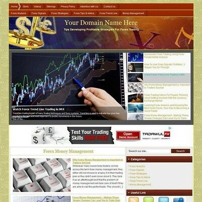 Premium Forex Affiliate Business Website For Sale! Best Way Earn Money At Home!