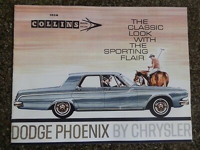 1963 Dodge Phoenix ''rare'' Rhd Aust Sales  Brochure  100% Guarantee