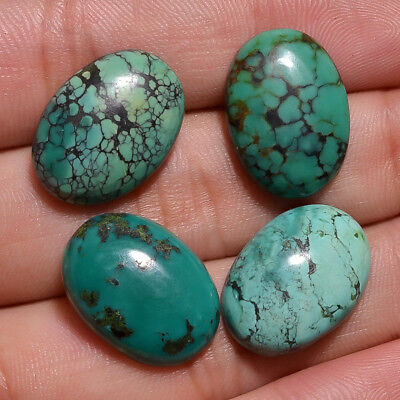 Natural Turquoise Oval Shape Cabochon Loose Gemstone Lot  LG16