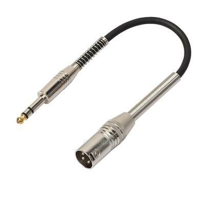 """3P XLR Male Jack to 1/4"""" 6.35mm Female Plug Stereo Microphone Cable Adapter #gib"""