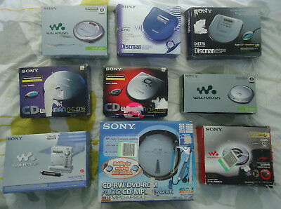 Sony Walkman Discman MiniDisc Players Seconds Like New Original Box Working