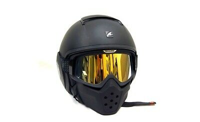 Shark Raw Drak Motorcycle Helmet Matt Black Iridium GOLD Edition