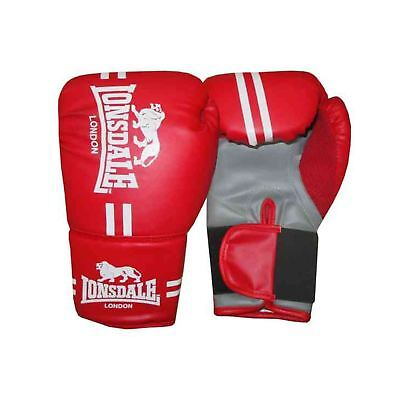 Lonsdale Contender Boxing Training Gloves Red MMA Muai Thai Gym Fitness