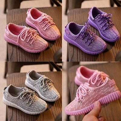Hot Kids Girls Boys Sneakers Outdoor Running Shoes Sports Comfort Casual Shoe 8H