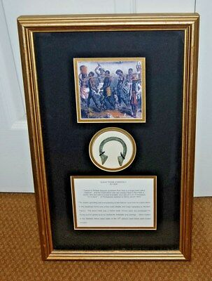 Antique 1600 AD Slave Trade Currency in Framed Shadowbox with COA