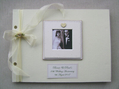 Personalised Anniversary Guest Book A4 Size With Box.any Message.photo Insert