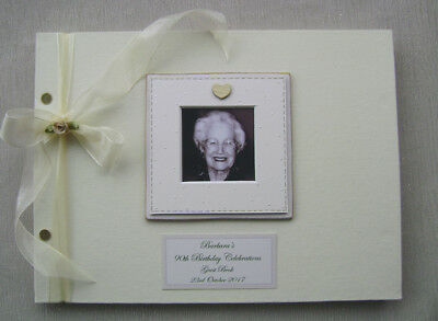 Personalised Birthday.any. Guest Book A4 Size With Box.any Message.photo Insert