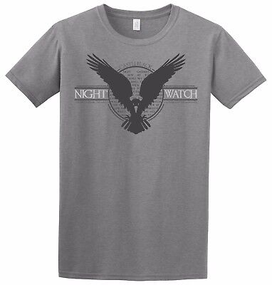 Night Watch -  Crows Snow Castle Black Game of Thrones TV Show Inspired T-Shirt