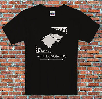 "Game of Thrones House Stark ""Winter is Coming"" Inspired T Shirt S-2XL"