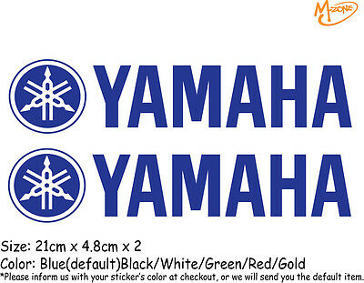 2 Pcs YAMAHA Logo Reflective Stickers Motorcycle Decals Stickers Best Gift-