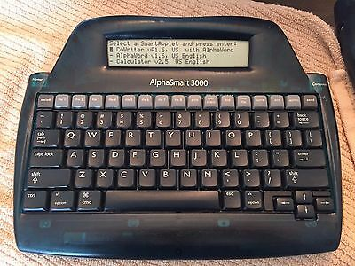 Alphasmart 3000 Portable Word Processor typewriter battery powered