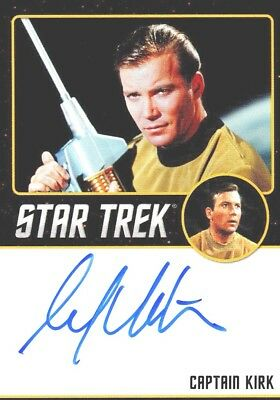 Star Trek TOS Portfolio Prints William Shatner Captain Kirk Autograph Card