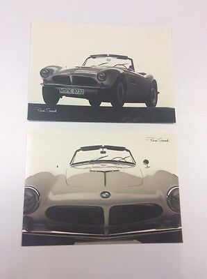 2 Early BMW 507 Convertible Postcards - Advertising