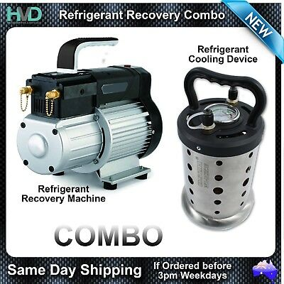Refrigerant Recovery Machine and Refrigerant Cooling Device Package HVAC Combo