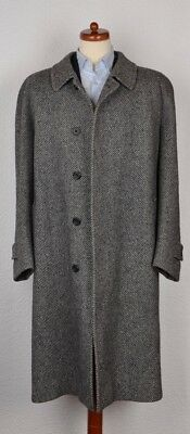 Aquascutum of London Tweed Wolle Mantel Coat Gr 48 50 Made England Wool Trench