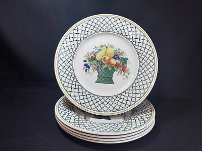 Villeroy & Boch Basket  Set of 5 Dinner Plates